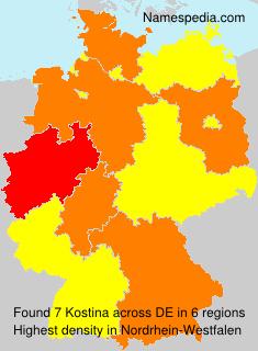 Familiennamen Kostina - Germany