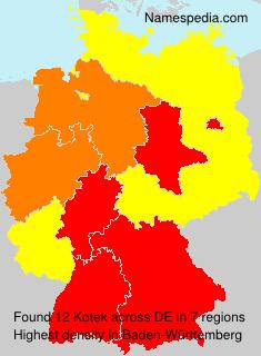 Familiennamen Kotek - Germany