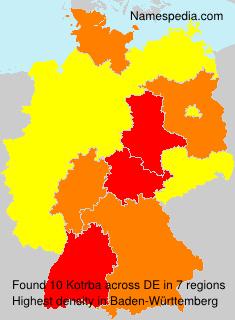 Surname Kotrba in Germany