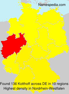 Surname Kotthoff in Germany