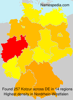 Surname Kotzur in Germany