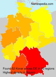 Surname Kovar in Germany