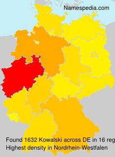 Surname Kowalski in Germany