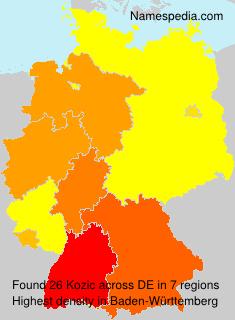 Surname Kozic in Germany