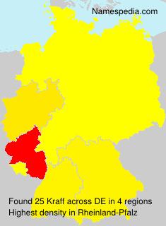 Surname Kraff in Germany