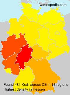 Surname Krah in Germany