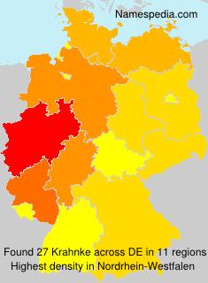 Familiennamen Krahnke - Germany