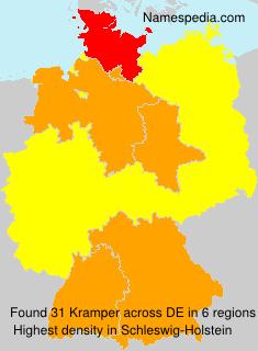 Surname Kramper in Germany