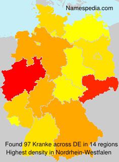 Surname Kranke in Germany