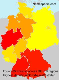 Surname Krasnici in Germany