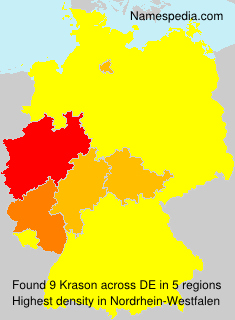 Surname Krason in Germany