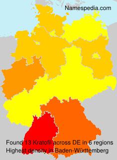 Surname Kratofil in Germany
