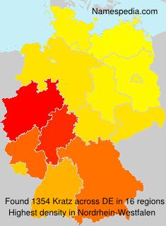 Familiennamen Kratz - Germany