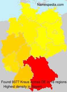Familiennamen Kraus - Germany