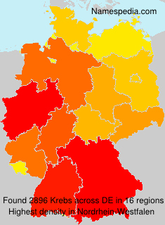 Surname Krebs in Germany