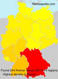 Surname Kreiner in Germany