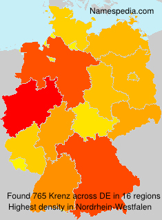 Surname Krenz in Germany