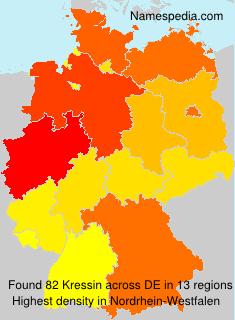 Surname Kressin in Germany