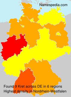 Familiennamen Kret - Germany