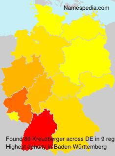 Surname Kreuzberger in Germany