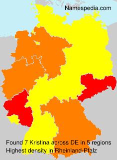 Surname Kristina in Germany