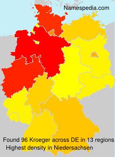 Familiennamen Kroeger - Germany
