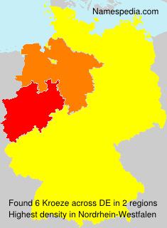Surname Kroeze in Germany