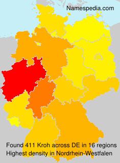 Familiennamen Kroh - Germany