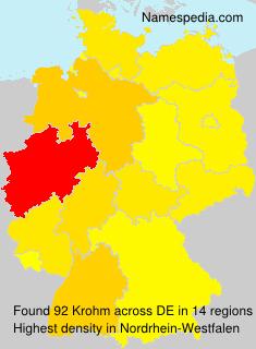 Familiennamen Krohm - Germany