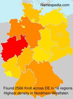 Familiennamen Kroll - Germany