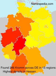 Familiennamen Kromm - Germany