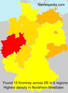 Surname Kromrey in Germany