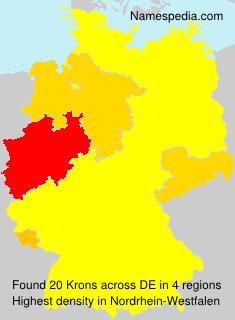Surname Krons in Germany