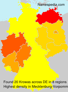 Surname Krowas in Germany