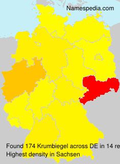 Familiennamen Krumbiegel - Germany