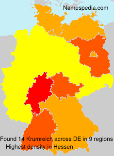 Surname Krumreich in Germany