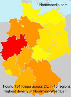 Surname Krupa in Germany