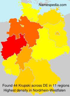 Familiennamen Krupski - Germany