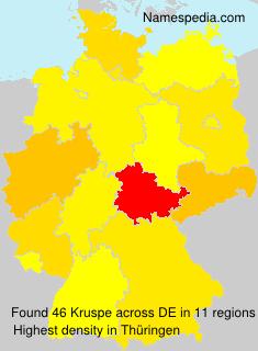 Surname Kruspe in Germany