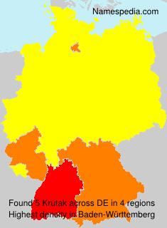 Surname Krutak in Germany