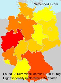Familiennamen Krzeminski - Germany