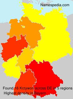 Surname Krzywon in Germany