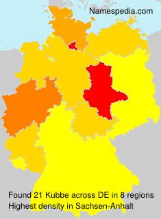 Familiennamen Kubbe - Germany