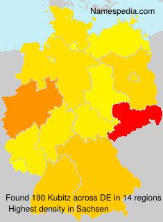Familiennamen Kubitz - Germany