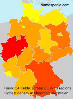 Surname Kublik in Germany