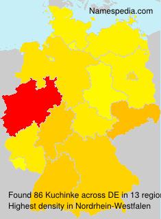 Surname Kuchinke in Germany