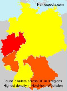 Surname Kuleta in Germany
