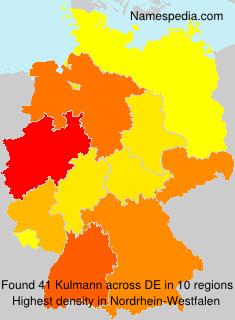Surname Kulmann in Germany