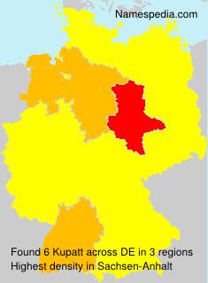 Familiennamen Kupatt - Germany