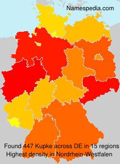 Familiennamen Kupke - Germany